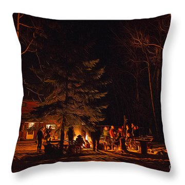 Ponderosa Christmas '14 Throw Pillow