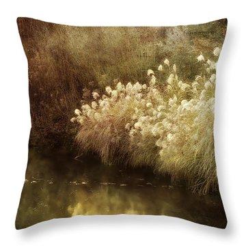 Pond's Edge Throw Pillow by Julie Palencia