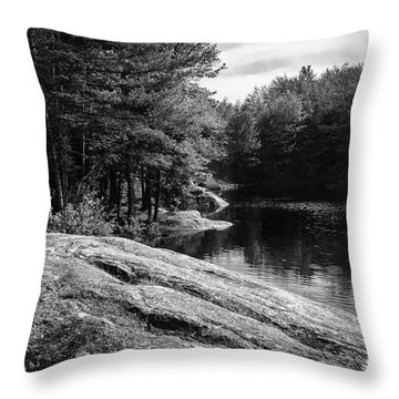 Throw Pillow featuring the photograph Pondside by Mark Myhaver