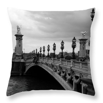Throw Pillow featuring the photograph Pont Alexander by Lisa Parrish