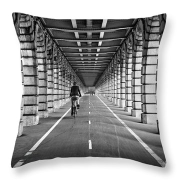 Pont De Bercy Throw Pillow