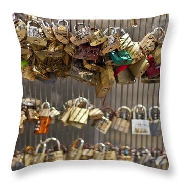 Pont Des Artes Throw Pillow by Georgia Fowler