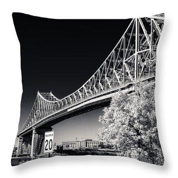 Pont Jacques Cartier Throw Pillow by Bianca Nadeau