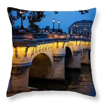 Pont Neuf Bridge - Paris France I Throw Pillow