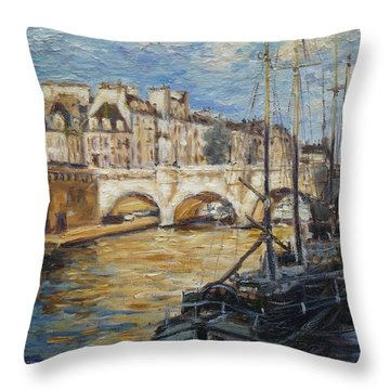 Pont Neuf Paris Throw Pillow