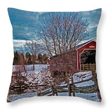 Pont Perrault Throw Pillow by Bianca Nadeau