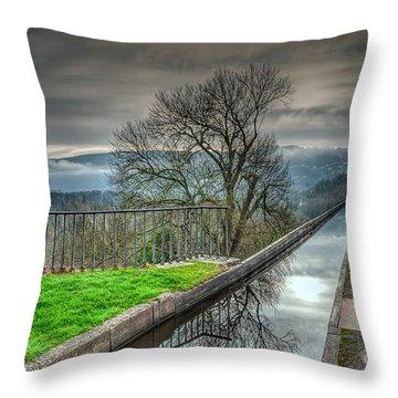 Pontcysyllte Aqueduct Throw Pillow by Adrian Evans
