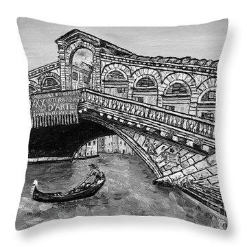 Ponte Di Rialto Throw Pillow by Loredana Messina