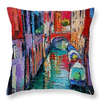 Ponte Raspi O Sansoni - Venice - Italy Throw Pillow