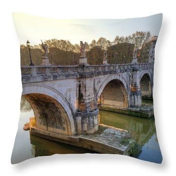 Ponte Sant'angelo  Throw Pillow