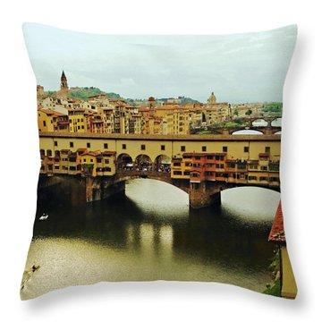 Ponte Vecchio 2 Throw Pillow by Ellen Henneke