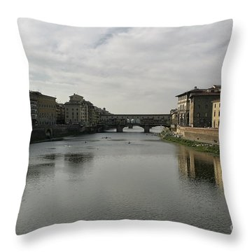 Ponte Vecchio Throw Pillow by Belinda Greb