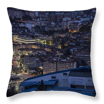 Pontevedra Panorama From A Caeira Throw Pillow