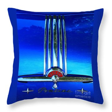 Throw Pillow featuring the photograph Pontiac Eight by Linda Bianic
