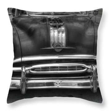 Throw Pillow featuring the photograph Pontiac Frontend by Michael Colgate