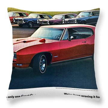 Pontiac Gto - 1964 1965 1966 1967 1968 Throw Pillow by Digital Repro Depot