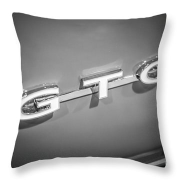 Pontiac Gto Emblem Throw Pillow by Paul Velgos