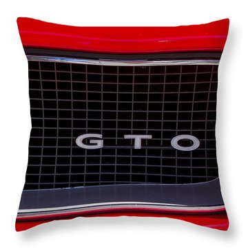 Throw Pillow featuring the photograph Pontiac Gto by Mitch Shindelbower