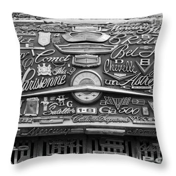 Pontiac Hood Throw Pillow
