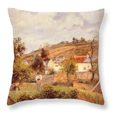 Pontoise Throw Pillow by Camille Pissarro