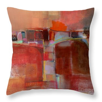 Pont Des Arts Throw Pillow by Michelle Abrams