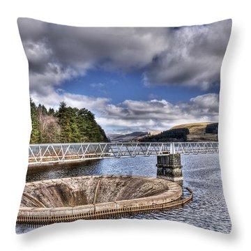 Pontsticill Reservoir 2 Throw Pillow by Steve Purnell