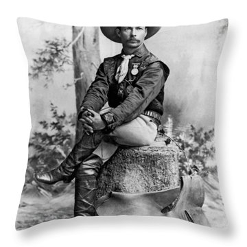 Pony Express Rider Throw Pillow by Underwood Archives