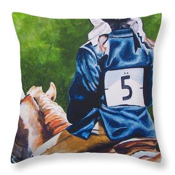 Pony Girl Throw Pillow