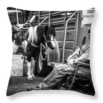Pony Ride Throw Pillow