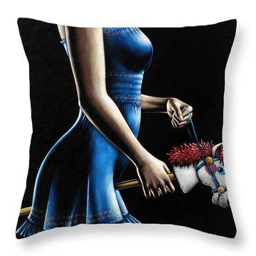 Ponygirl Throw Pillow