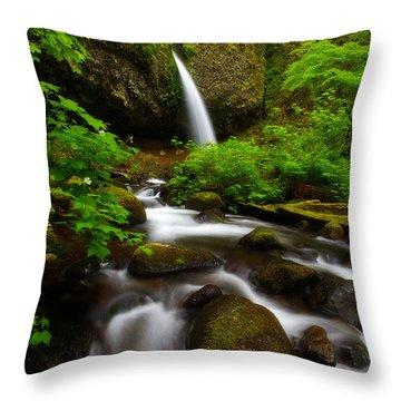 Ponytail Dreams Throw Pillow by Darren  White
