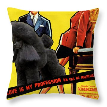 Poodle  Art - Love Is My Profession Throw Pillow