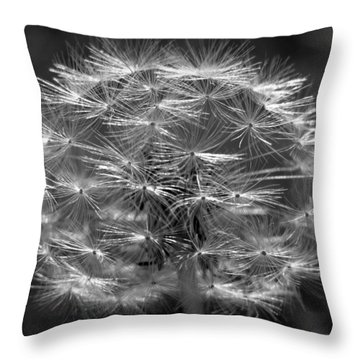 Throw Pillow featuring the photograph Poof - Black And White by Joseph Skompski