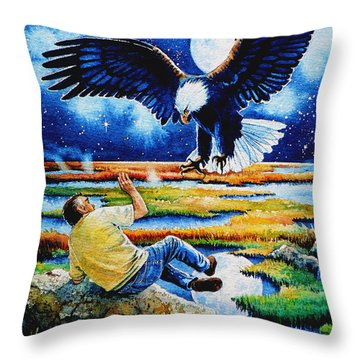 Pooka Hill 3 Throw Pillow by Hanne Lore Koehler