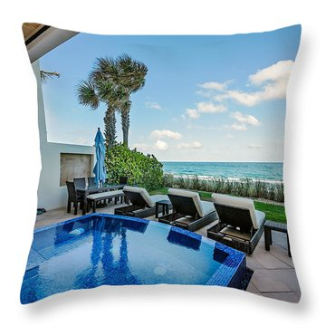 Pool On The Beach Throw Pillow