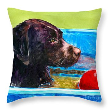 Pool Party Of One Throw Pillow by Molly Poole