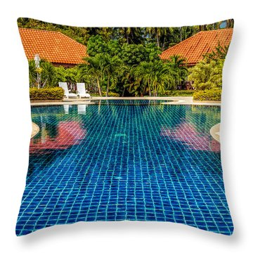 Pool Time Throw Pillow by Adrian Evans