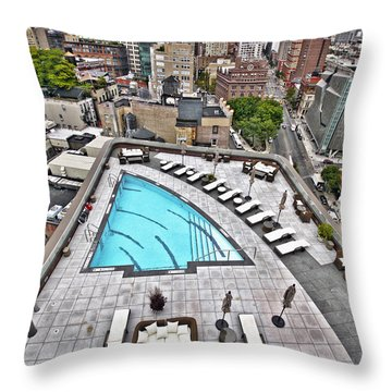 Pool With A View Throw Pillow