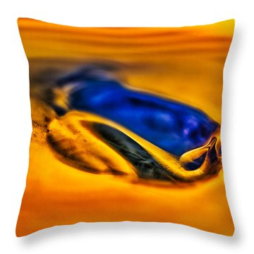 Pools Of Color Throw Pillow by Omaste Witkowski