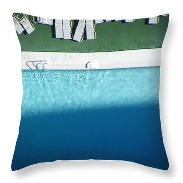 Poolside Upside Throw Pillow by Brian Boyle