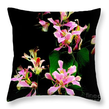 Poor Mans Orchid Throw Pillow by Amar Sheow