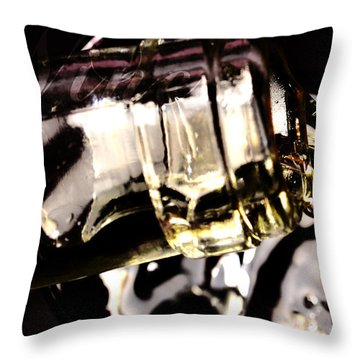 Pooring White Wine Throw Pillow by Tommytechno Sweden