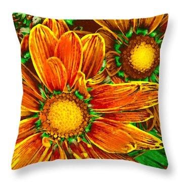 Pop Art Daisies 8 Throw Pillow by Amy Vangsgard