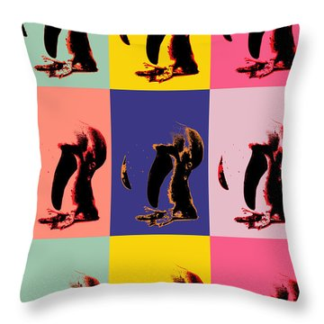 Pop Art Penguin  Throw Pillow