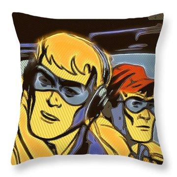 Pop Art Pilots Throw Pillow