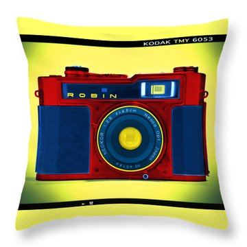 Pop Art Robin Throw Pillow by Mike McGlothlen