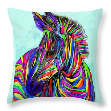Pop Art Zebra Throw Pillow by Jane Schnetlage