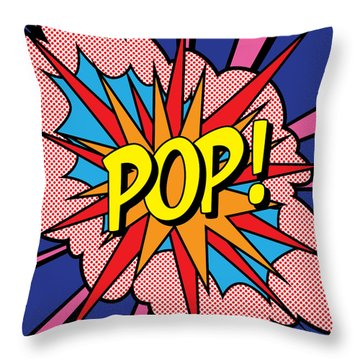 Pop Exclamation Throw Pillow by Gary Grayson