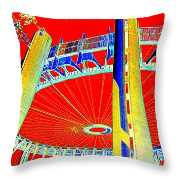 Pop Goes The Pavillion Throw Pillow by Ed Weidman