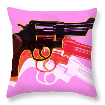Pop Handgun Throw Pillow